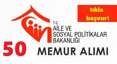 Aile ve Sosyal Politikalar Bakanlığına Memur Alınacak