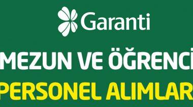 Garanti Bankası 2019 Yılı Personel Alımı