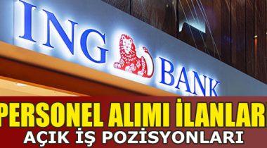 ING Bank 2019 Yılında Personel Alımı Yapıyor