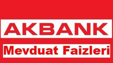 Akbank'ın 2019 Yılı Güncel Mevduat Faizi Oranı