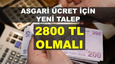 Asgari Ücret 2800 TL Olsun! İşte DİSK'in Talebi