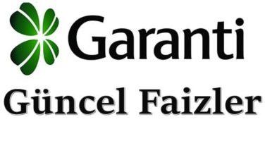 Garanti Bankası 2019 Yılı Mevduat Faizi Oranı