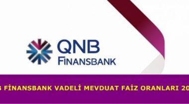 QNB Finansbank 2019 Yılı Mevduat Faizi Oranları