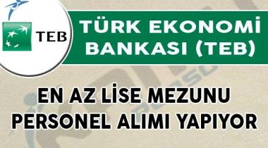 TEB Bankası 2019 Yılı Personel Alımı