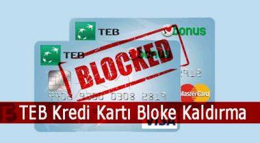 TEB Bankası Kredi Kartı Bloke Kaldırma
