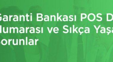 Garanti Bankası Pos Destek 444 0 339
