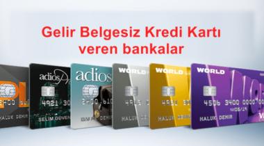 Gelir Belgesiz Kredi ve Kredi Kartı Veren Bankalar