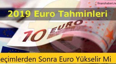 2019 Seçimlerinden Sonra Euro Yükselecek Mi