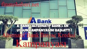 Alternatif Bank Düşük Faizli İhtiyaç Kredisi