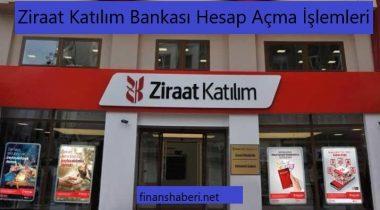 Ziraat Katılım Bankası Hesap Açma