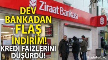 Ziraat Bankası İhtiyaç Kredisi Faiz İndirimi