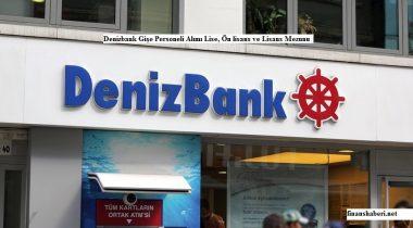 Denizbank Personel Alımı Yapıyor