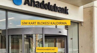 Anadolubank Sim Kart Blokesi Kaldırma