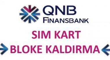 Finansbank Sim Kart Blokesi Kaldırma