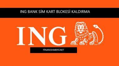 ING Bank Sim Kart Blokesi Kaldırma