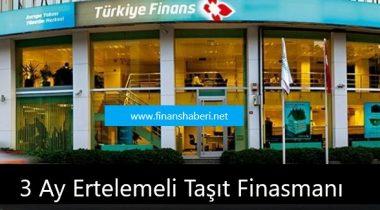 Türkiye Finans 3 Ay Ertelemeli Taşıt Finansmanı