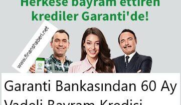 Garanti Bankası Bayram Kredisi