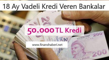 50.000 TL İhtiyaç Kredisi Veren Bankalar