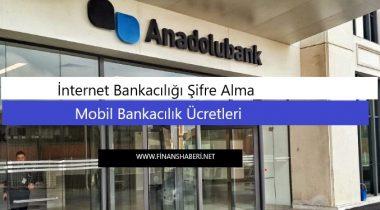 ANADOLU BANK İnternet Bankacılığı Şifre Alma