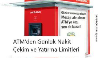 Akbank ATM Günlük Nakit Çekim Limiti Nedir