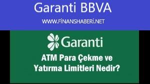 Garanti BBVA ATM Günlük Nakit Çekim Limiti