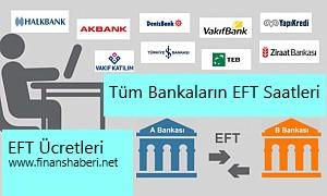 Bütün Bankaların EFT Saatleri ve Ücretleri