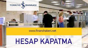 İŞ Bankası Hesap Kapatma