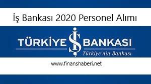 İş Bankası 2020 Personel Alımı