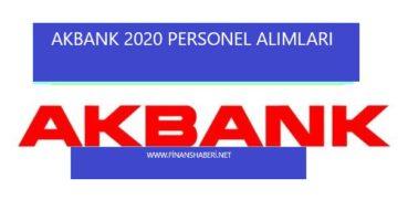 Akbank 2020 Personel Alımı