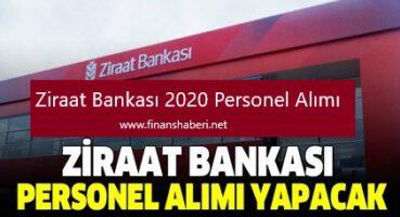 Ziraat Bankası 2020 Personel Alımı