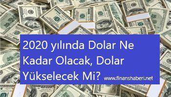 2020′ De Dolar Artacak Mı' Dolar Ne Kadar Olacak?