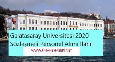 Galatasaray Üniversitesi 2020 Personel Alımı