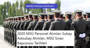 Milli Savunma Üniversitesi Personel Alımı 2020