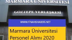 Marmara Üniversitesi 2020 Personel Alımı