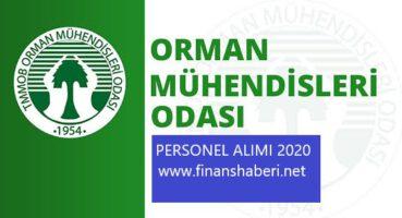 Orman Mühendisleri Odası 2020 Personel Alımı