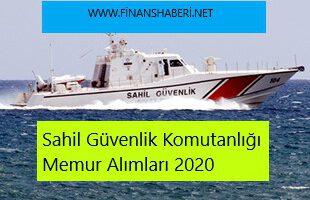 Sahil Güvenlik Komutanlığı 2020 Memur Alımı