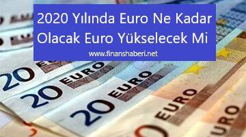 2020′ De Euro Artacak Mı' Euro Ne Kadar Olacak?