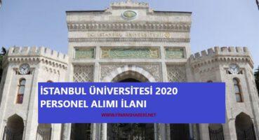 İstanbul Üniversitesi 2020 Personel Alımı