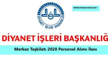 Diyanet İşleri Başkanlığı Merkez Teşkilatı 2020 Personel Alımı