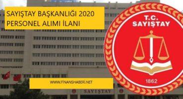 Sayıştay Başkanlığı 2020 Personel Alımı