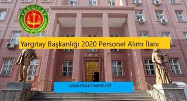 Yargıtay Başkanlığı 2020 Personel Alımı
