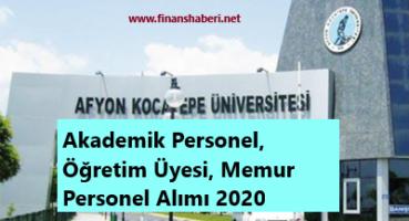 Afyon Kocatepe Üniversitesi 2020 Personel Alımı
