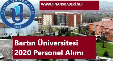 Bartın Üniversitesi 2020 Personel Alımı