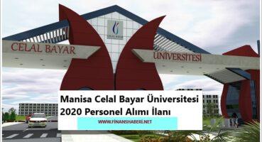 Manisa Celal Bayar Üniversitesi 2020 Personel Alımı