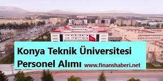 Konya Teknik Üniversitesi 2020 Personel Alımı
