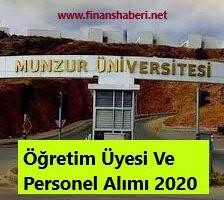 Munzur Üniversitesi 2020 Personel Alımı
