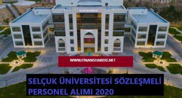 Selçuk Üniversitesi 2020 Personel Alımı