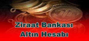Ziraat Bankası Altın Hesabı Özellikleri