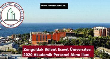 Zonguldak Bülent Ecevit Üniversitesi 2020 Personel Alımı