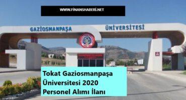 Tokat Gaziosmanpaşa Üniversitesi 2020 Personel Alımı